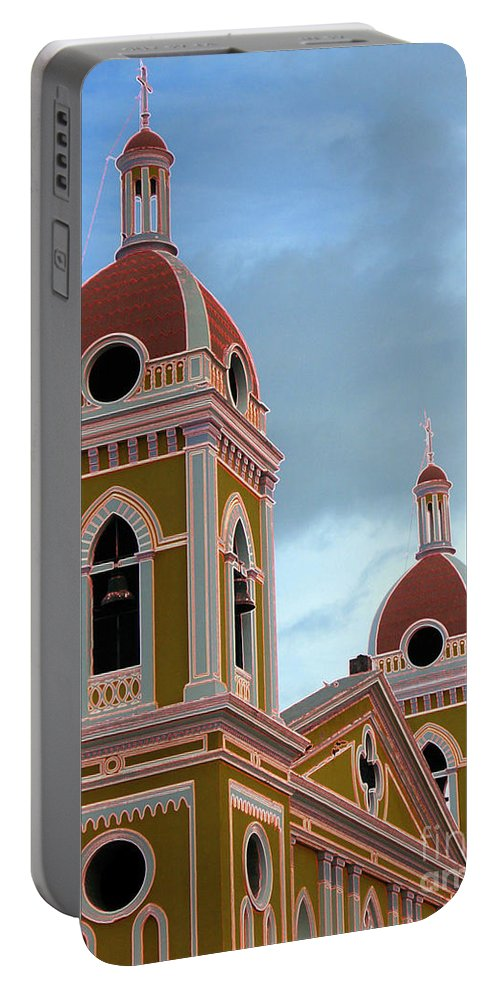 Church Portable Battery Charger featuring the photograph Cathedral On The Square 2 by Lydia Holly