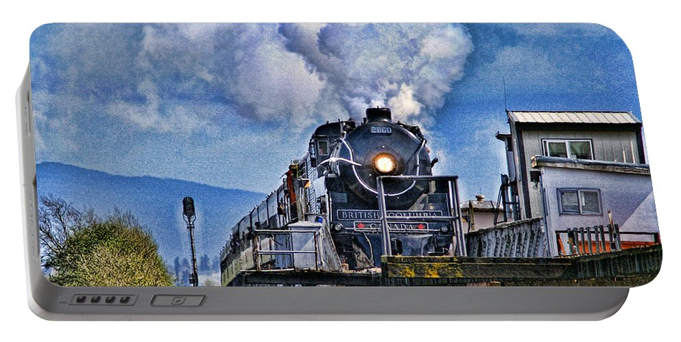Trains Portable Battery Charger featuring the photograph Catr064-07 by Randy Harris