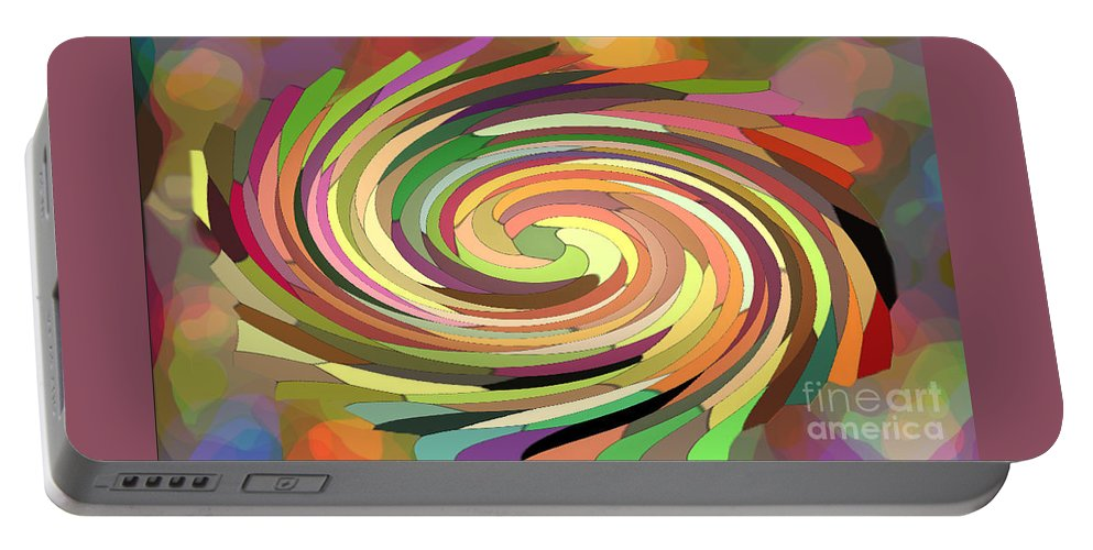 Digital Portable Battery Charger featuring the photograph Cat's Tail In Motion. Stained Glass Effect. by Ausra Huntington nee Paulauskaite