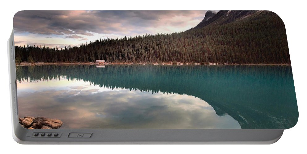 Mountains Portable Battery Charger featuring the photograph Caught In Reflections by Tara Turner