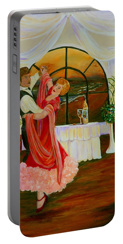 Gail Daley#romance Prints Portable Battery Charger featuring the painting Celebration by Gail Daley
