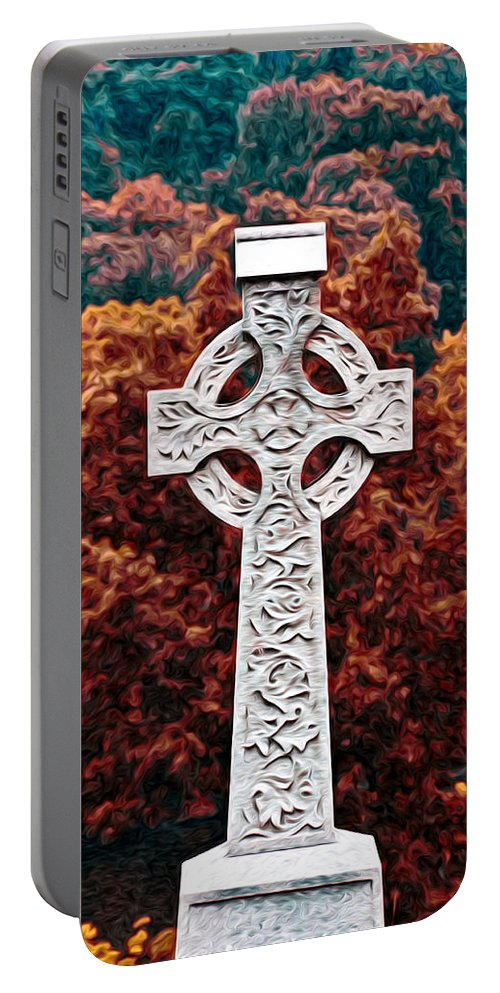 Celtic Cross Portable Battery Charger featuring the photograph Celtic Cross by Bill Cannon