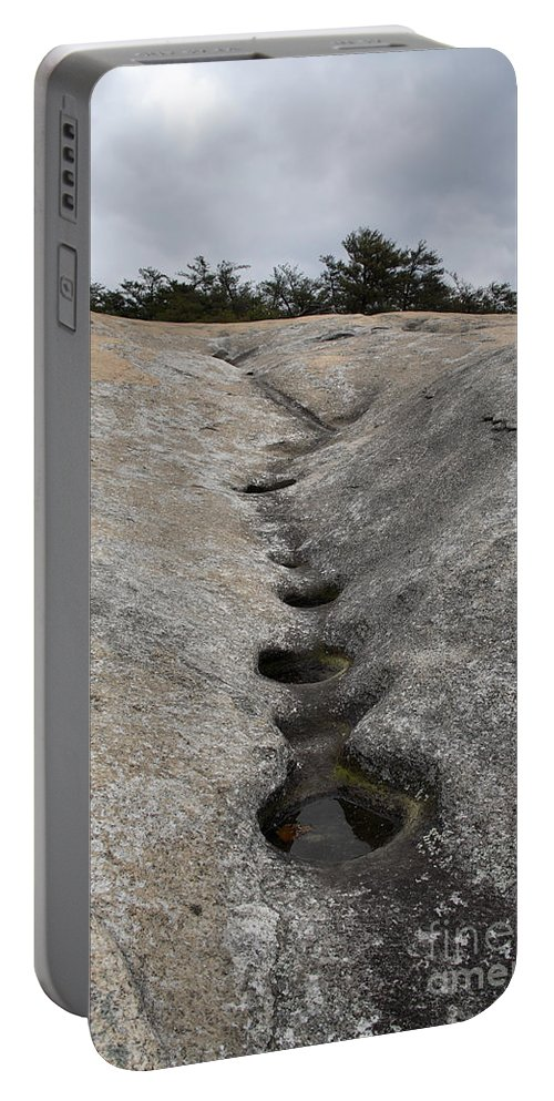 Erosion Portable Battery Charger featuring the photograph Channel Eroded By Water by Ted Kinsman