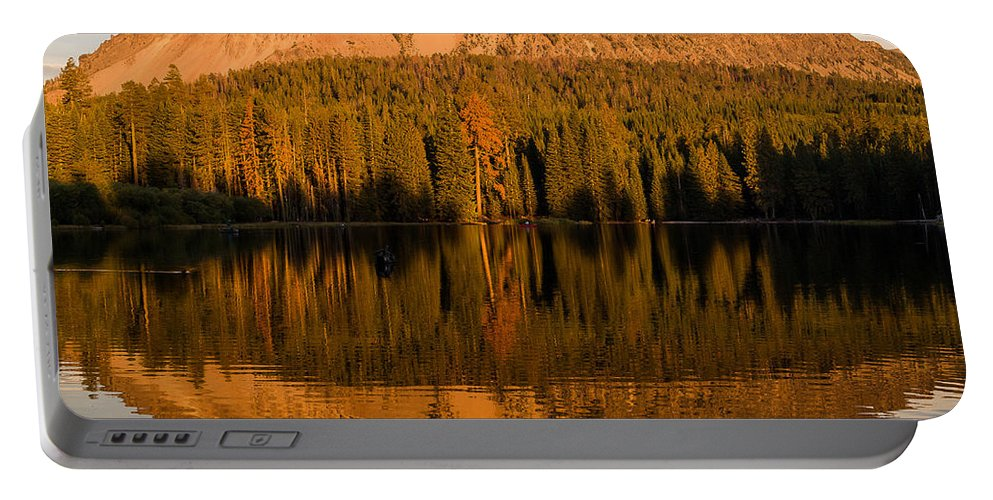 Cascades Portable Battery Charger featuring the photograph Chaos Crags Reflecting by Greg Nyquist