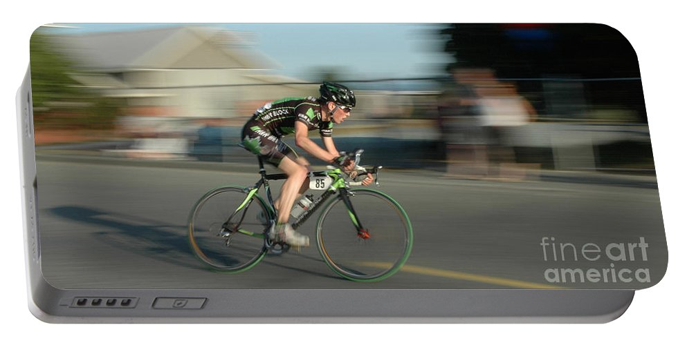 Bicycles Portable Battery Charger featuring the photograph Chasing The Pack by Vivian Christopher