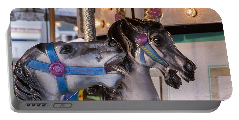 Carousel Portable Battery Charger featuring the photograph Chat With Me by Darleen Stry