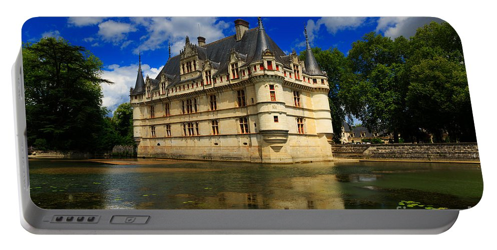 Beautiful Portable Battery Charger featuring the photograph Chateau Azay Le Rideau by Louise Heusinkveld