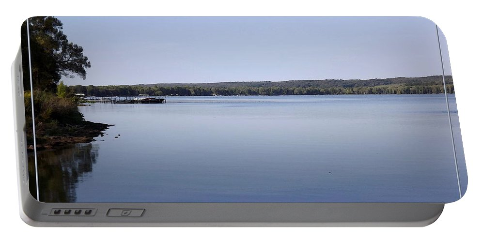 Chautauqua Lake Portable Battery Charger featuring the photograph Chautauqua Lake With Watercolor Effect by Rose Santuci-Sofranko