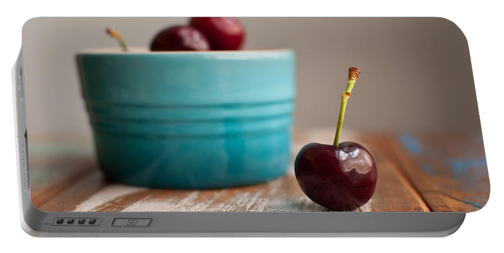 Cherry Portable Battery Charger featuring the photograph Cherry by Tammy Lee Bradley