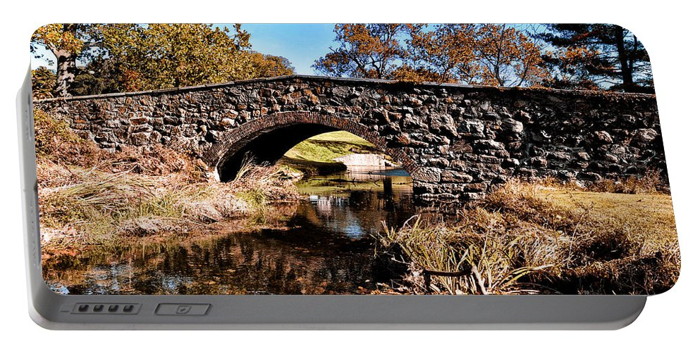 Chester County Bow Bridge Portable Battery Charger featuring the photograph Chester County Bow Bridge by Bill Cannon