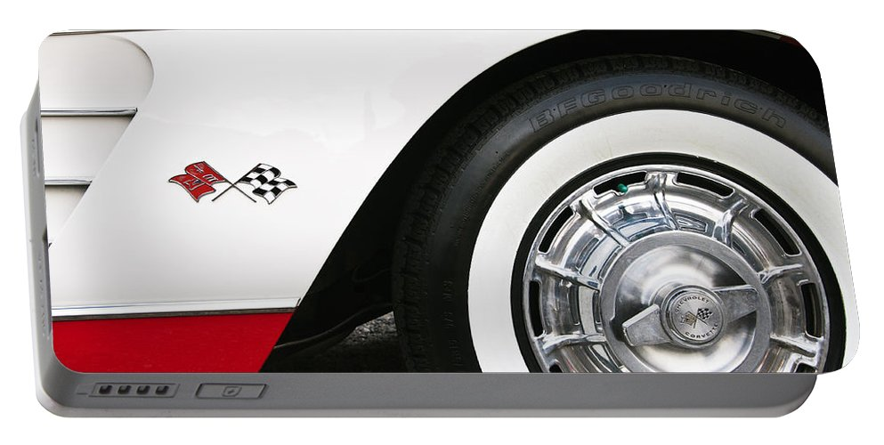 Chevrolet Portable Battery Charger featuring the photograph Chevrolette Corvette Sting Ray Convertible by Glenn Gordon