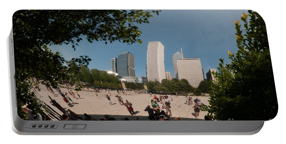 Artistic Sculpture Portable Battery Charger featuring the digital art Chicago City Scenes by Carol Ailles