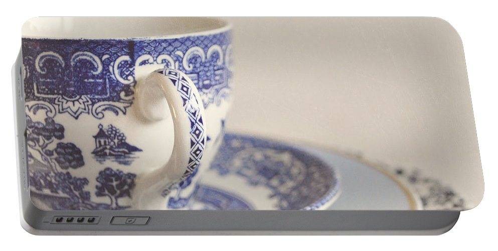 Cup Portable Battery Charger featuring the photograph China Cup And Plates by Lyn Randle