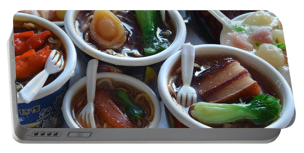 Chinese Food Miniatures Portable Battery Charger featuring the photograph Chinese Food Miniatures 1 by Bill Owen