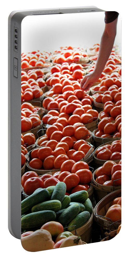 Farmers Market Portable Battery Charger featuring the photograph Choices by Kristin Elmquist