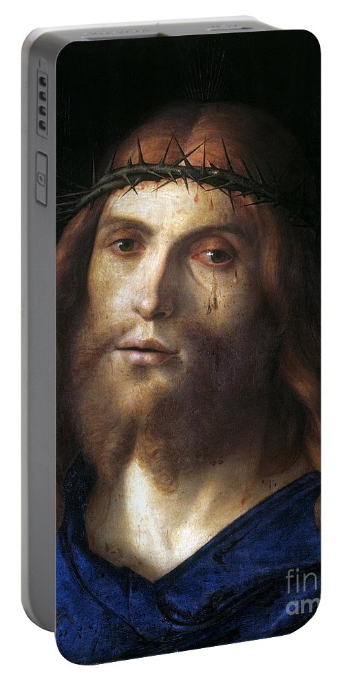 1510 Portable Battery Charger featuring the photograph Christ Crowned With Thorns by Granger