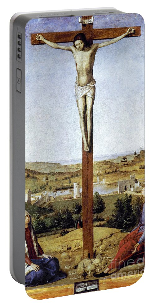 1475 Portable Battery Charger featuring the photograph Christ Crucified by Granger