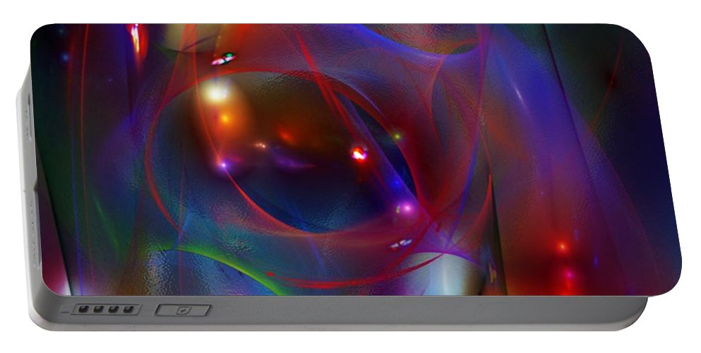 Fine Art Portable Battery Charger featuring the digital art Christmas Abstract 112711 by David Lane