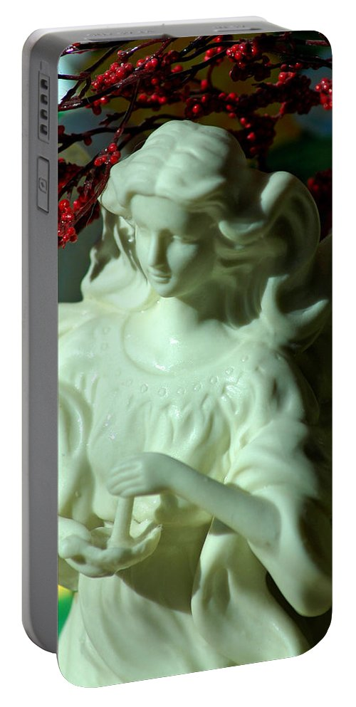 Landscapes Portable Battery Charger featuring the photograph Christmas Angel by LeeAnn McLaneGoetz McLaneGoetzStudioLLCcom