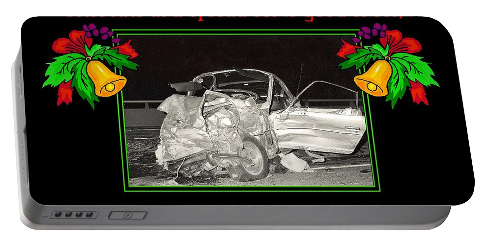 Accidents Portable Battery Charger featuring the photograph Christmas Card by Randy Harris