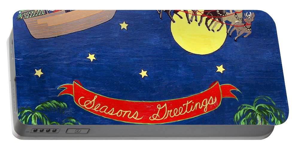 Christmas Painting Portable Battery Charger featuring the photograph Christmas Greetings by Sally Weigand