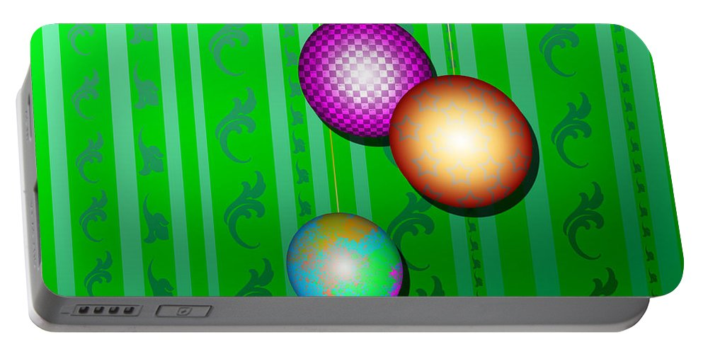 Christmas Portable Battery Charger featuring the digital art Christmas Time by Adam Vance