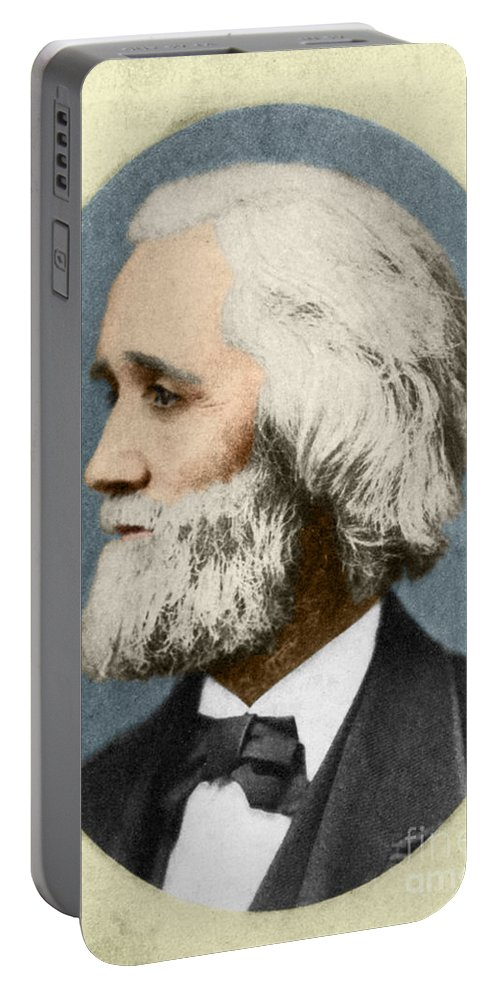 History Portable Battery Charger featuring the photograph Christopher Sholes, American Inventor by Photo Researchers