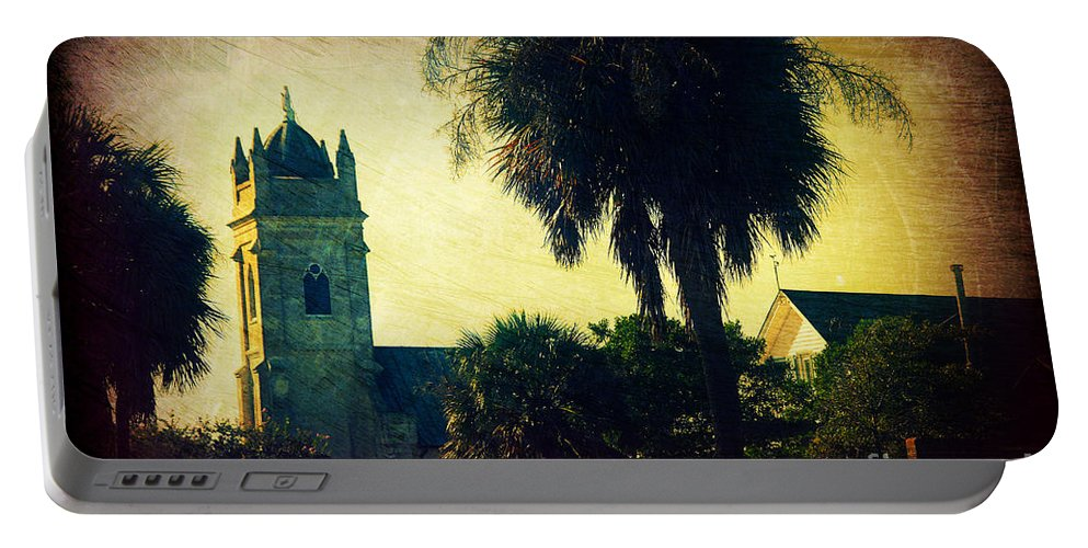 Church Portable Battery Charger featuring the photograph Church At Fort Moultrie Near Charleston Sc by Susanne Van Hulst