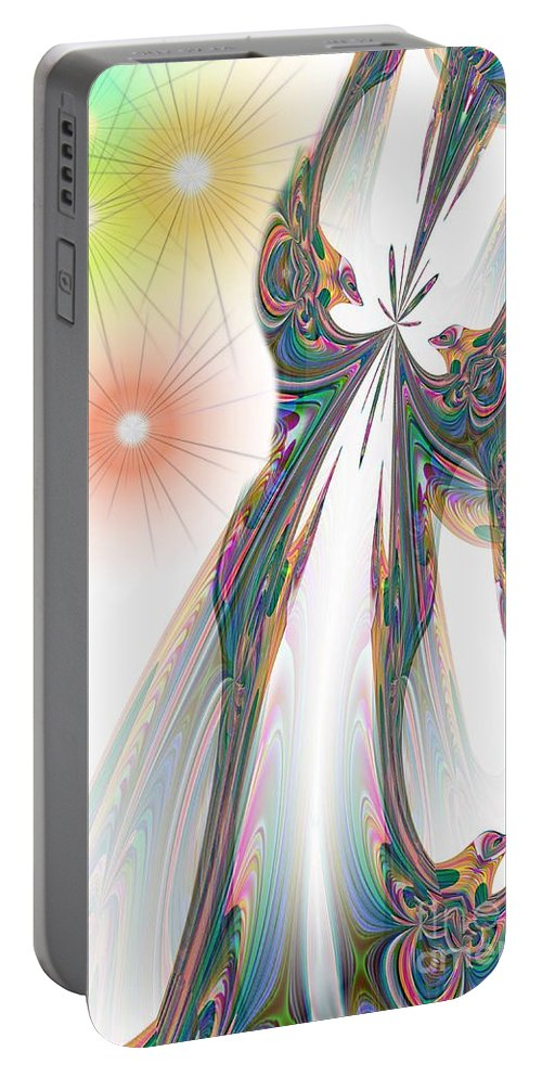 Cinderella Portable Battery Charger featuring the digital art Cinderella's Wedding Night by Maria Urso