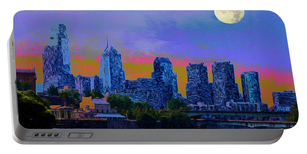City Nights Portable Battery Charger featuring the photograph City Nights by Bill Cannon