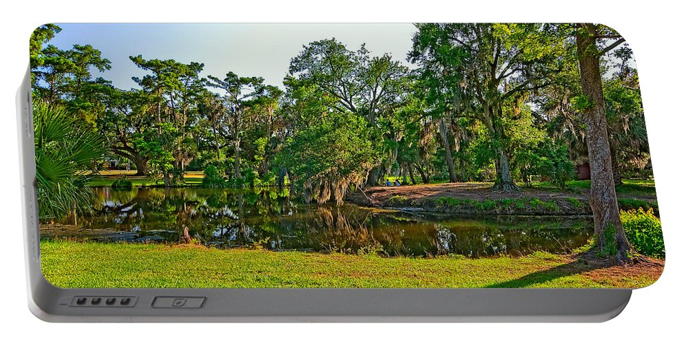 New Orleans Portable Battery Charger featuring the photograph City Park Lagoon by Steve Harrington