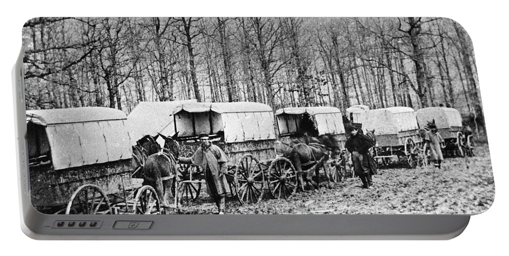 1864 Portable Battery Charger featuring the photograph Civil War: Ambulances, C1864 by Granger
