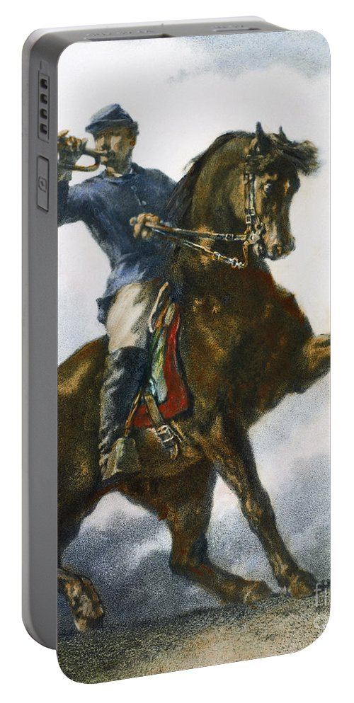 1863 Portable Battery Charger featuring the photograph Civil War: Bugler, 1863 by Granger