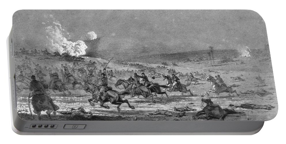 1863 Portable Battery Charger featuring the photograph Civil War: Cavalry Charge by Granger