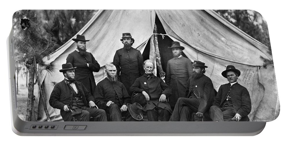 1864 Portable Battery Charger featuring the photograph Civil War: Chaplains, 1864 by Granger