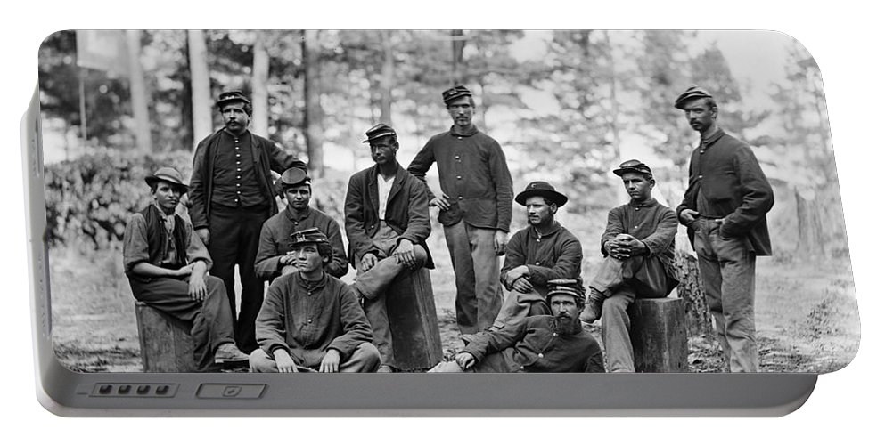 1864 Portable Battery Charger featuring the photograph Civil War: Engineers by Granger