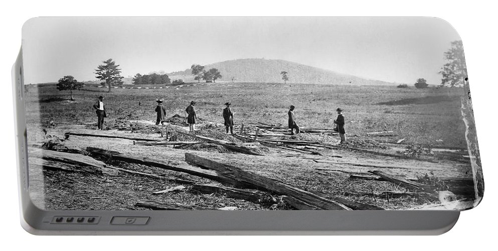 1862 Portable Battery Charger featuring the photograph Civil War: Graves, 1862 by Granger