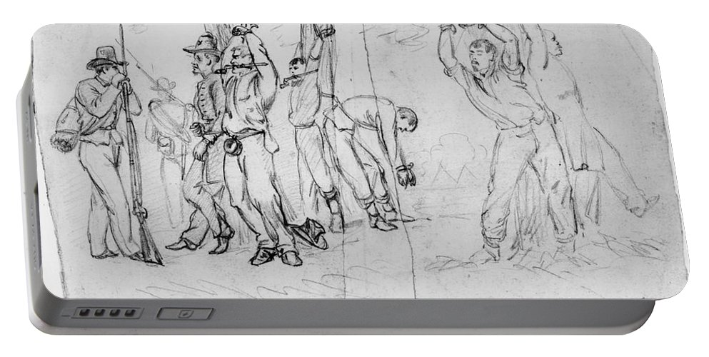 1860s Portable Battery Charger featuring the photograph Civil War: Punishment by Granger