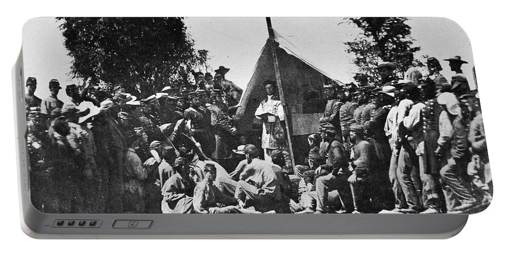 1861 Portable Battery Charger featuring the photograph Civil War: Religion by Granger