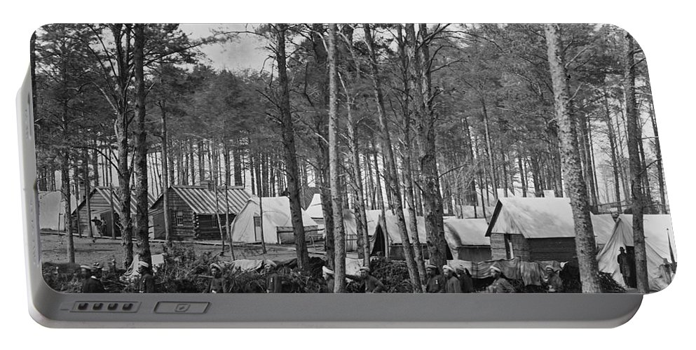 1864 Portable Battery Charger featuring the photograph Civil War: Union Camp, 1864 by Granger