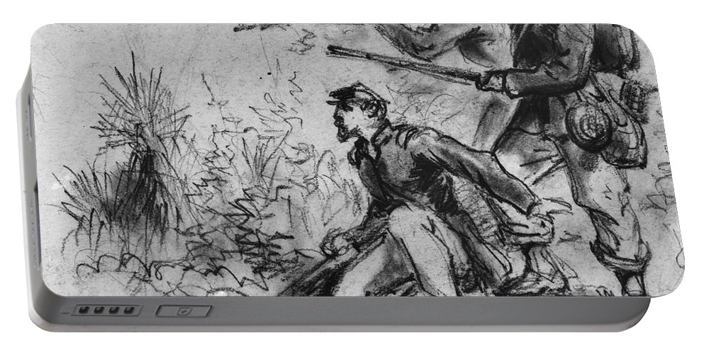 1860s Portable Battery Charger featuring the photograph Civil War: Union Infantry by Granger