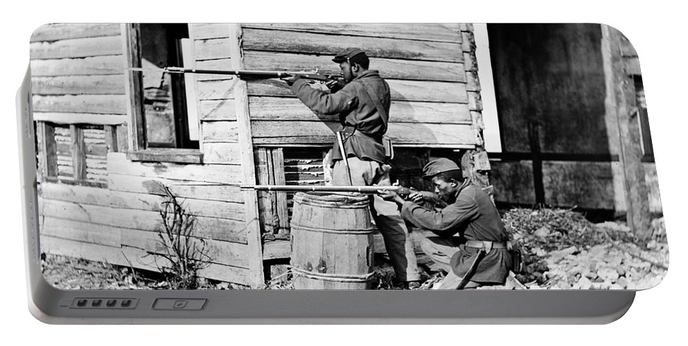 1864 Portable Battery Charger featuring the photograph Civil War: Union Soldiers by Granger