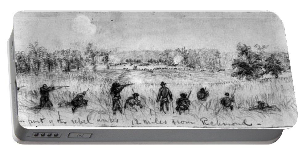 1863 Portable Battery Charger featuring the photograph Civil War: Union Troops by Granger