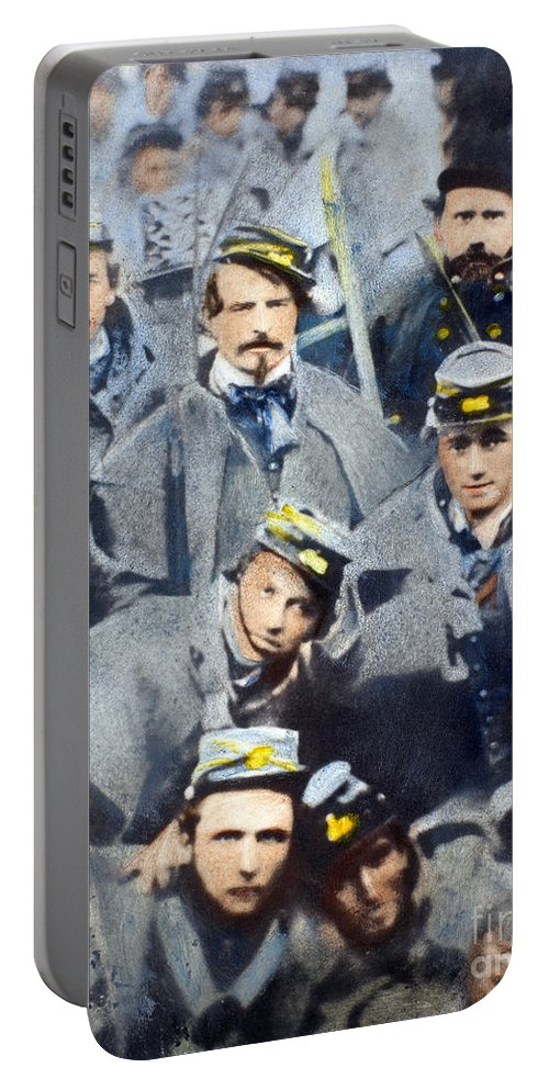 1861 Portable Battery Charger featuring the photograph Civil War: Volunteers, 1861 by Granger