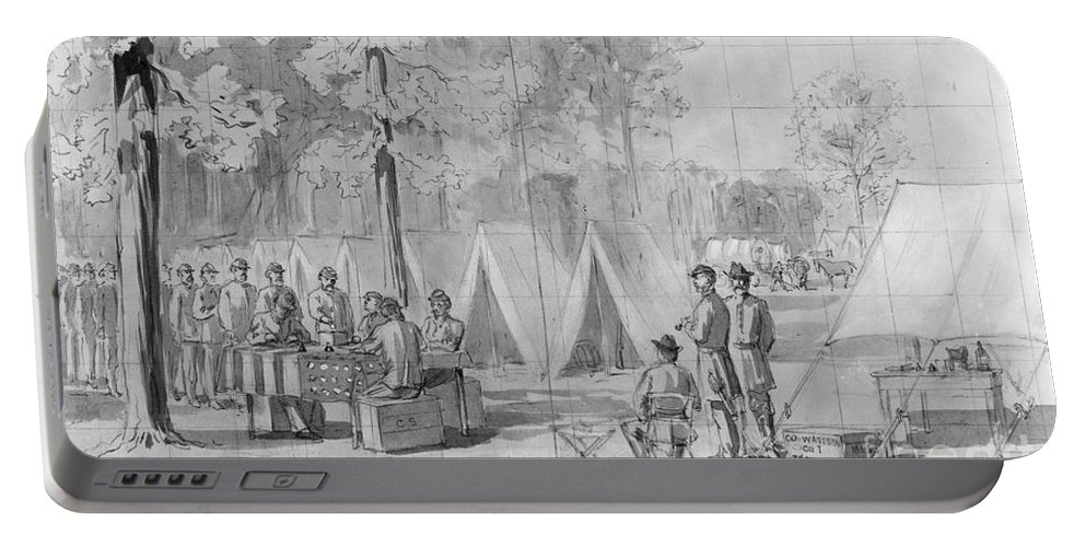 1864 Portable Battery Charger featuring the photograph Civil War: Voting, 1864 by Granger