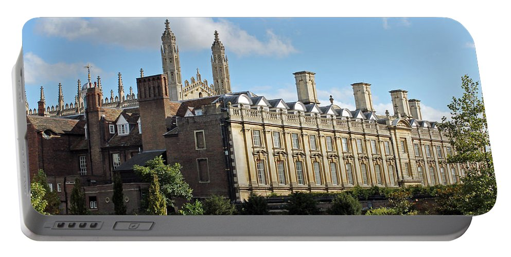 Cambridge Portable Battery Charger featuring the photograph Clare College Cambridge by Tony Murtagh