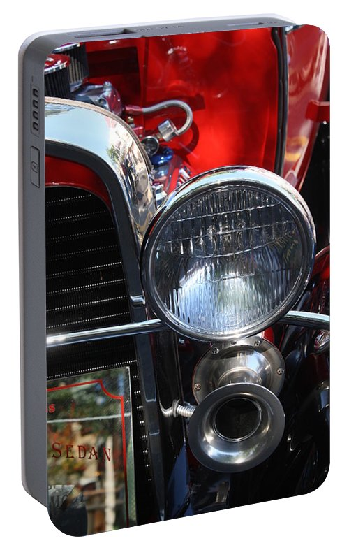 Classic Portable Battery Charger featuring the photograph Classic Antique Car- Ford - Roaring 20s - Detail by Dora Sofia Caputo Photographic Design and Fine Art