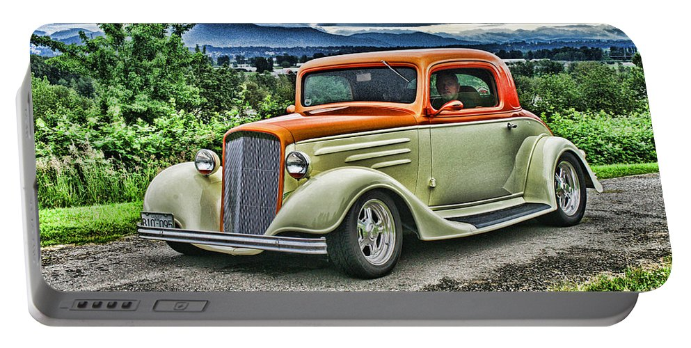 Cars Portable Battery Charger featuring the photograph Classic Ford Hdr by Randy Harris