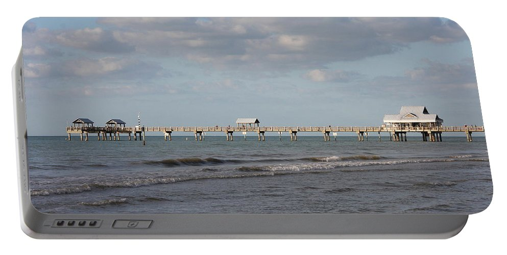 Clearwater Portable Battery Charger featuring the photograph Clearwater Pier 69 by Christiane Schulze Art And Photography
