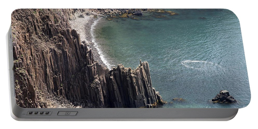 Nature Portable Battery Charger featuring the photograph Cliffs At Grand Manan Island, Canada by Ted Kinsman